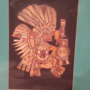 Photo of Mayan God's Popote straw paintings
