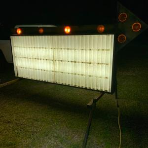 Photo of Marquee sign with 2 boxes of letters