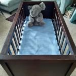 Large Baby Cradle Solid, strong, rocks too!