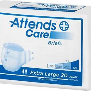 Photo of Attends Care Briefs XL, Unisex, 20 PACKS OF 20 BRIEFS