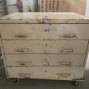 Photo of Vintage 4 drawer metal chest