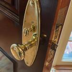 Baldwin Lexington BRASS estate handle set & hinges