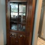 Hutch W/Glass Shelves & Lighting
