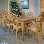 Dining Room Table with extra leaf and Ten Chairs (Ashley)