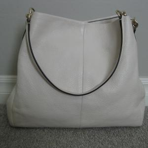 Photo of Coach Phoebe Pebbled Leather Shoulder Hobo Bag