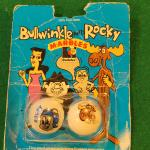 Rocky bullwinkle glass marble set