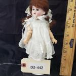 "LOT# 442- 9"" 1894 Germany Compo Body Bisque Head Repro"