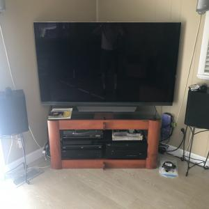 "Photo of 65"" tv and accessories  sale at 2060 St George Ave. WP 32789. Open Sunday"
