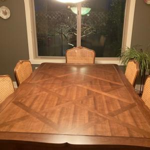 Photo of Walnut table and chairs