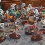 Franklin carousel figurines