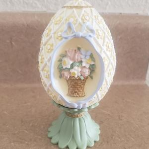 Photo of Vintage 1994 AVON Season's Treasures Hand Painted Porcelain Egg Collection