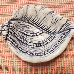 Photo of Kaldun and Bogle Ceramic Hand-Painted Capri Sculpted Shell-Shaped Candy Dishes