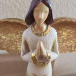 Rare Tii Collections Resin Angel Figurine w/Praying Hands