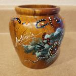 Australia Outback Collection Hand-Painted Wooden Vase