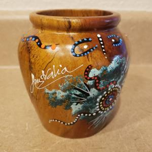 Photo of Australia Outback Collection Hand-Painted Wooden Vase