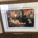 A. Kosousky signed nudes 5 Nudes Beautiful Frame and inset Gold double Matted