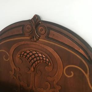 Photo of Full size antique wood headboard