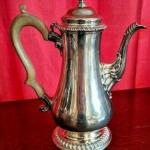 18th c. Sterling Silver Coffee / Tea Pot by Thomas Whipman & Charles Wright Lond