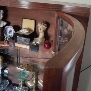 Photo of Curio Cabinet with Curved Glass