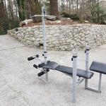Weight Bench with Leg Extension and Individual Weights