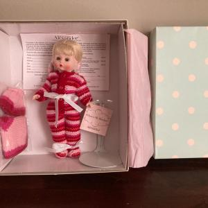 Photo of Madame Alexander WHERE'S MY BLANKIE, #40460 NIB NRFB & doll stand