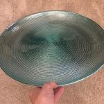 "Decorative 19"" Aqua color Plate"