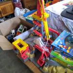 Cars and trucks and a activity set for the cars and trucks and a few games