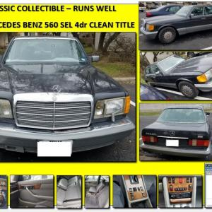 Photo of Mercedes Benz 560 SEL 4dr Hardtop Runs Well Clean Title & Carfax ~ Low Miles