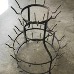 Vintage 4 Tier French Bottle Drying Rack
