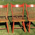 Three Wood Chairs