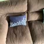 Move out sale: 3 seat couch with wooden support