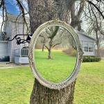 Antique oval Victorian wooden mirror!973-600-3177