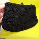 Black Seed Bead Hand Bag