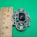Art Deco Style Filigree Brooch