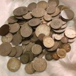 Vintage mixed foreign silver tone coins