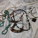 Boho, necklace lot includes Silpada sterling, beads, copper, stones