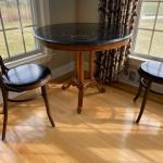 coffee table with black marble top