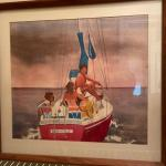 "Lot #62 -- Ann Gauthier ""Dominique"" original sailboat watercolor painting"