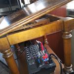 Vintage adjustable wooden music stand