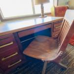 Vintage Wooden Desk, Tapered Legs