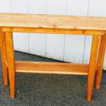 Lot #14 Solid Wood Console Table
