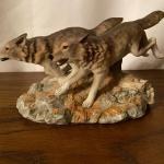 Home Interiors Wolf Statue