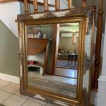 "Accent French provincial ornate beveled mirror 28"" x32"