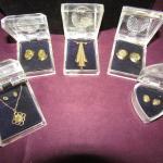 LOT 601  NEW GOLDTONE DIAMOND DUST JEWELRY