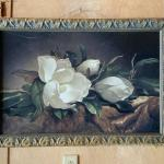 Large Frame (Magnolia print in fair condition),