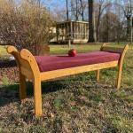 Handcrafted Sold Oak Bench Lot (2)