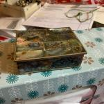 Silver trinket box with abalone