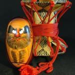 Lot 162: Wood Carved Daruma Kokeshi