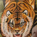 Lot 169: Tufted Fighting Tiger Artwork