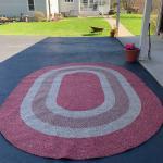 """Braided rug !11"""" x8""""1 ! 973-600-3177"""